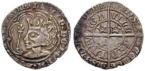Groat (coin) - Image: David II of Scotland groat 1367 612676