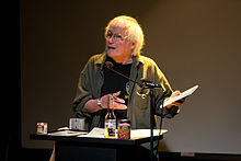 David Meltzer speaking at Beyond Baroque Literary Arts Center, Venice, California in 2007