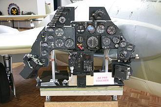 De Havilland Venom - Instrument panel of a Swiss Venom