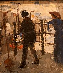 De schilder op de Hoogbrug in Mechelen