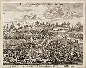 Battle of Turnhout (1597) - The battle of Turnhout in 1597. Engraving by Jan Luycken.