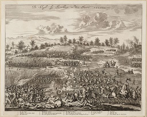 De slagh bij Turnhout in den jaere MDXCVII - 1597 (Jan Luyken, 1681)