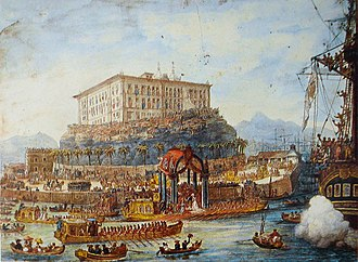 Maria Leopoldina of Austria - Arrival of Archduchess Leopoldina in Rio de Janeiro, 5 November 1817.