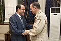 Defense.gov News Photo 110801-N-TT977-346 - Chairman of the Joint Chiefs of Staff Adm. Mike Mullen greets Iraqi Prime Minister Nouri al-Maliki in Baghdad on Aug. 1 2011. Mullen is on a.jpg