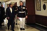Defense.gov News Photo 110916-F-RG147-149 - Secretary of Defense Leon Panetta escorts Medal of Honor recipient Marine Sgt. Dakota L. Meyer to the Hall of Heroes induction ceremony at the.jpg