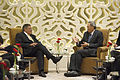 Defense.gov News Photo 120602-D-BW835-727 - Secretary of Defense Leon E. Panetta meets with Singapore s Minister of Defense Ng Eng Hen at the Shangri-La Dialogue in Singapore on June 2 2012.jpg