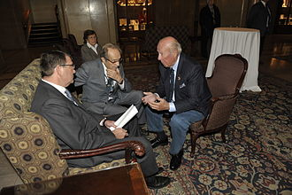 Ash Carter - Carter, William Perry and former Secretary of State George P. Shultz, October 12, 2012