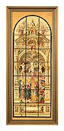 Design for a Stained-Glass Window with the Crucifixion