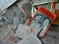 Detail of Littered Magazines and Lessons - Abandoned Schoolhouse - Pripyat Ghost Town - Chernobyl Exclusion Zone - Northern Ukraine (26494238064).jpg