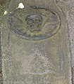 Detail of the top of the grave stone - geograph.org.uk - 46555.jpg