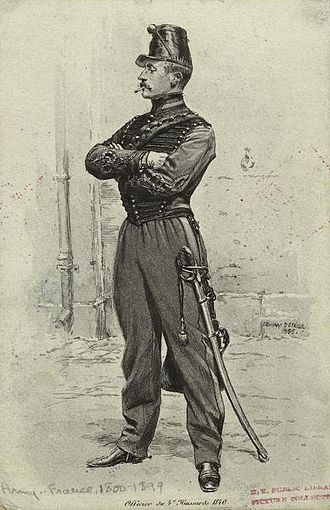 4th Hussar Regiment (France) - An officer of the 4th Hussar Regiment in 1840.