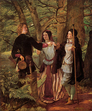 Locus amoenus - Characters in the Forest of Arden in Shakespeare's As You Like It