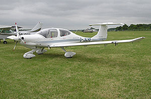 Diamond Aircraft Industries - Diamond DA40-TDI Diamond Star, a four-seat single engine aircraft which could burn either diesel or jet fuel
