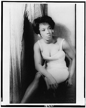 Diana Sands - Carl Van Vechten portrait of Sands, 1963.