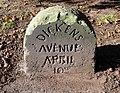 Dickens Avenue stone 1, Mayer Park.jpg