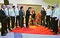 Die!!! Weihnachtsfeier 2013, 202 Die - männlichen -Musiker der Spaßband und Spielvereinigung SpVgg Linden Nord huldigen Ecki Stieg mit Geschenken.jpg
