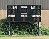 Digital scoreboard at Southwater CC, in Southwater, West Sussex, England.jpg