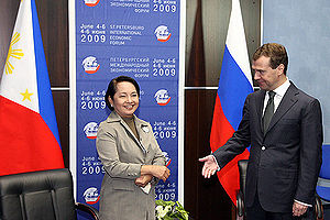 Gloria Macapagal Arroyo - President Arroyo with Russian President Dmitry Medvedev, June 9, 2009