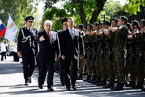 Cypriot National Guard - Image: Dmitry Medvedev in Cyprus 7 October 2010 2