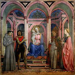 Madonne à l'enfant, vers 1445.