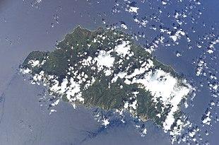 Dominica vom All aus gesehen