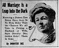 Dorothy Dix - All Marriage is a Leap Into the Dark, 1913.jpg