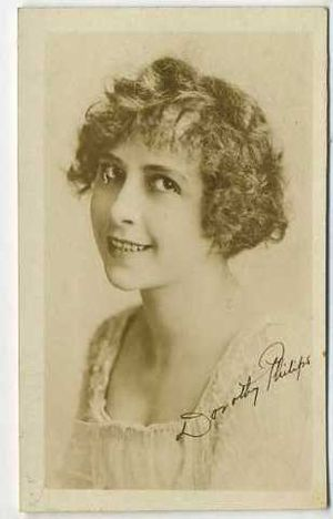 Dorothy Phillips - Phillips, in the 1910s, on an autographed, movie card