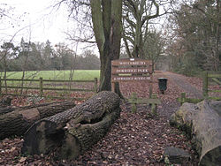 Entrance to Dorridge Park from Arden Drive