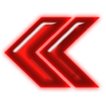 Double arrow neon red left.png