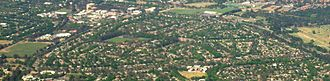 Downer, Australian Capital Territory - Aerial view of Downer from north east