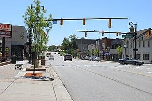 Brighton, Michigan - Downtown Brighton, Grand River Ave