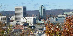 Worcester, Massachusetts - Image: Downtown Worcester, Massachusetts
