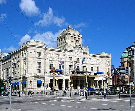 Royal Dramatic Theatre, one of Stockholm's many theatres. Dramaten 050701.JPG
