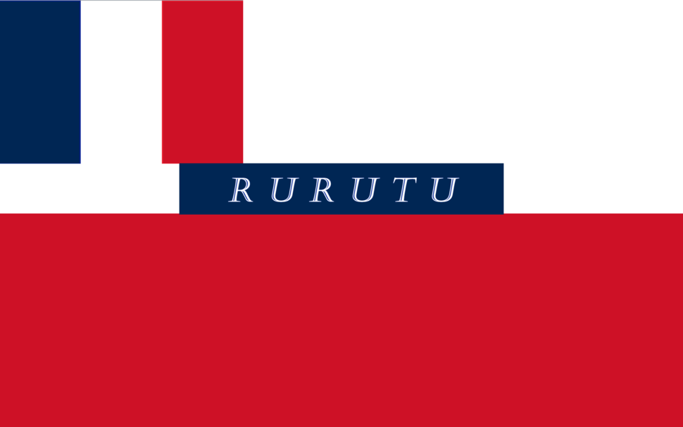 Drapeau Protectorat Français RuRutu (1858-1889)