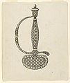 Drawing, Design for Hilt and Guard of a Dress Sword, ca. 1780–90 (CH 18554453).jpg