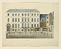 Drawing, Elevation of a Town Square Showing Facade of the Theater, ca. 1860 (CH 18348613).jpg
