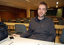 Dries Buytaert at FOSDEM 2008 by Wikinews.jpg