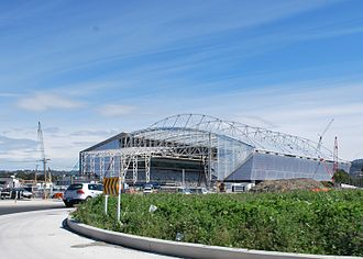Forsyth Barr Stadium - Outside view of the stadium.
