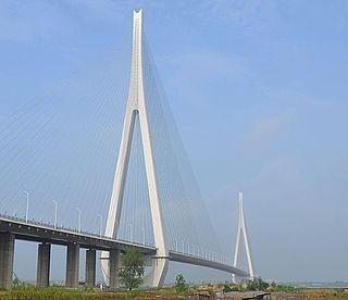 Edong Yangtze River Bridge bridge in Hubei Province, China