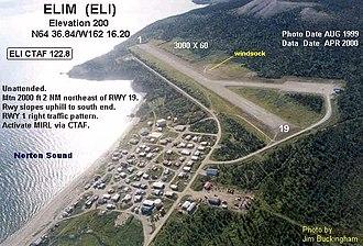 Elim Airport - Image: ELI g