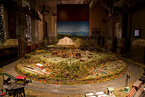 Model train installation at the Eli Whitney Mu...
