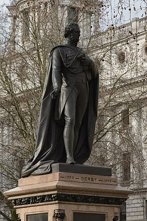 Statue of the Earl of Derby, Parliament Square - The sculpture in 2015
