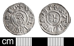 Early-Medieval coin, penny of Wulfred, Archbishop of Canterbury (FindID 614314).jpg
