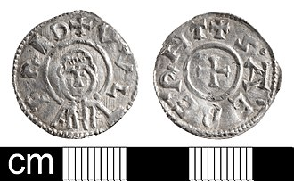 Wulfred - Image: Early Medieval coin, penny of Wulfred, Archbishop of Canterbury (Find ID 614314)