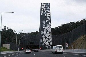 EastLink (Melbourne) - Ringwood portal of the tunnels under the Mullum Mullum Valley