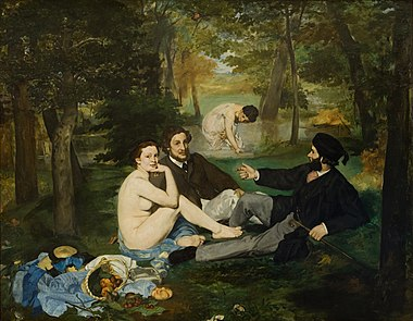 May 17: Manet's Le dejeuner sur l'herbe exhibited. Edouard Manet - Luncheon on the Grass - Google Art Project.jpg