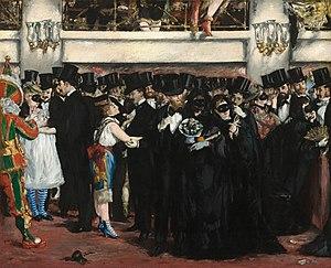 Paris Carnival - Édouard Manet, Bal masqué à l'opéra, 1873