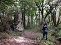 Edouard photographiant un menhir.jpg