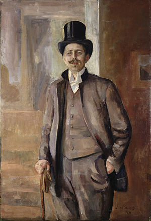 Carl Dørnberger - Carl Dørnberger; portrait by Edvard Munch (1889)