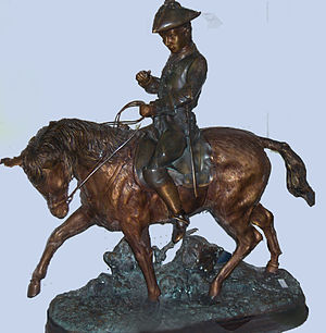 "Edward Berge - ""American soldier on horseback"" (private collection)"